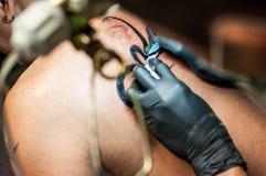 Tatuaggio sul corpo Fotografie Stock