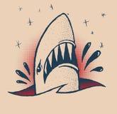 Tatuaggio tradizionale dello squalo Fotografia Stock