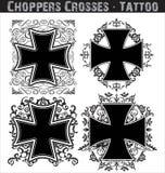 Tatuaggio trasversale Fotografia Stock Libera da Diritti