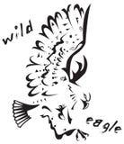 Tatuaggio tribale - aquila selvaggia Fotografia Stock Libera da Diritti