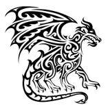 Tatuaggio tribale del drago Fotografia Stock Libera da Diritti
