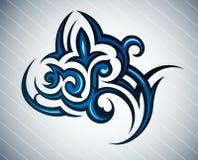 Tatuaggio tribale del fiore Immagini Stock