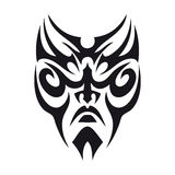 Tatuaggio tribale del fronte Fotografia Stock