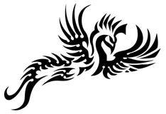 Tatuaggio tribale dell'uccello Fotografie Stock
