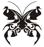 Tatuaggio tribale della farfalla Fotografia Stock
