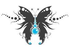 Tatuaggio tribale della farfalla Fotografia Stock Libera da Diritti