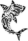 Tatuaggio tribale dello squalo Fotografia Stock Libera da Diritti