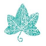 Tatuaggio tribale Ivy Leaf Immagini Stock Libere da Diritti