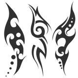 Tatuaggio tribale nero Fotografie Stock
