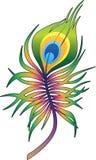 Tatuaggio variopinto della piuma del pavone illustrazione vettoriale