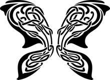 Tatuaje abstracto de la mariposa Fotografía de archivo