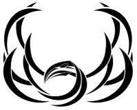 Tatuaje abstracto estilizado del pájaro en negro libre illustration