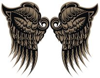 Tatuaje con alas Imagen de archivo libre de regalías