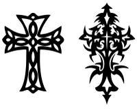 Tatuaje cruzado del vector Imagen de archivo libre de regalías