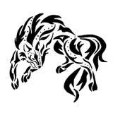 Tatuaje de alta calidad del lobo ilustración del vector