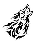 Tatuaje de alta calidad del lobo stock de ilustración