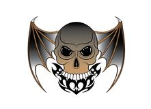 Tatuaje de Art Surreal Wings Devil Skull libre illustration