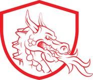 Tatuaje de Dragon Head Mascot Fotos de archivo