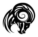 Tatuaje de la cabra Fotografía de archivo libre de regalías