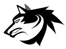 Tatuaje de la cara del lobo Imagenes de archivo