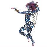 Tatuaje de la danza Foto de archivo libre de regalías