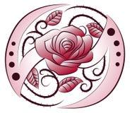 Tatuaje de la flor de la cuchilla del ala Fotos de archivo
