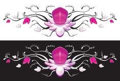Tatuaje de la flor de la fruta de pasión. Imágenes de archivo libres de regalías