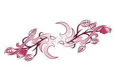 Tatuaje de la flor del ornamento del ala Fotografía de archivo