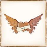 Tatuaje de la forma del corazón stock de ilustración