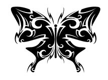 Tatuaje de la mariposa Fotos de archivo libres de regalías