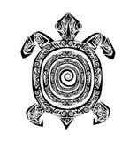 Tatuaje de la tortuga ilustración del vector
