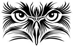 Tatuaje de los ojos de Eagle ilustración del vector
