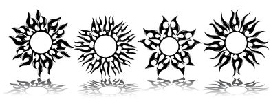 Tatuaje de los soles stock de ilustración