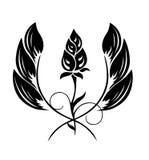 Tatuaje de un modelo de flor Imagenes de archivo