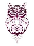 Tatuaje del búho Foto de archivo