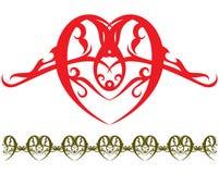 Tatuaje del corazón stock de ilustración