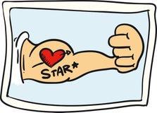 Tatuaje del corazón Foto de archivo libre de regalías