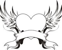Tatuaje del corazón Imágenes de archivo libres de regalías