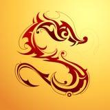 Tatuaje del dragón Imagen de archivo