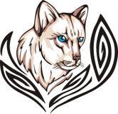 Tatuaje del gato Imagen de archivo libre de regalías