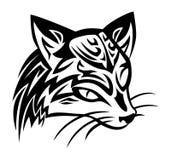 Tatuaje del gato de civeta Fotografía de archivo