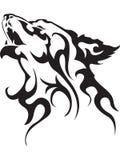 Tatuaje del lobo Foto de archivo