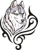 Tatuaje del lobo Imágenes de archivo libres de regalías