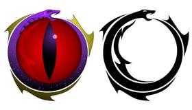 Tatuaje del ojo de serpiente Imagenes de archivo