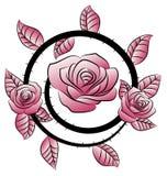 Tatuaje del ornamento de la flor del remolino Fotos de archivo libres de regalías