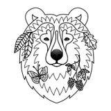 Tatuaje del oso Fotografía de archivo