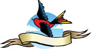 Tatuaje del pájaro Fotos de archivo libres de regalías