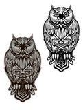 Tatuaje del pájaro del búho Fotos de archivo libres de regalías