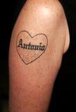 Tatuaje del ` s de Melanie Griffith foto de archivo libre de regalías