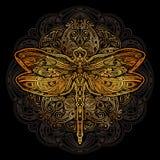Tatuaje del vector de la libélula ilustración del vector